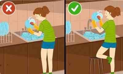 как мыть посуду при боли в позвоночнике