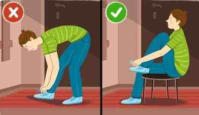 как завязывать шнурки, если болит спина